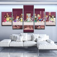 Rick And Morty Wall Art Panel Print Picture The Last Supper Framed UNframed
