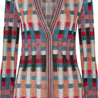 Missoni - Metallic jacquard-knit cardigan