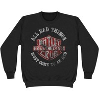 Motley Crue Men's  Bad Boys Shield Sweatshirt Sweatshirt Black