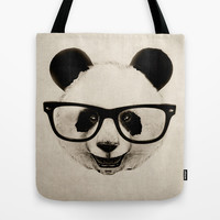 Panda Head Too Tote Bag by Isaiah K. Stephens