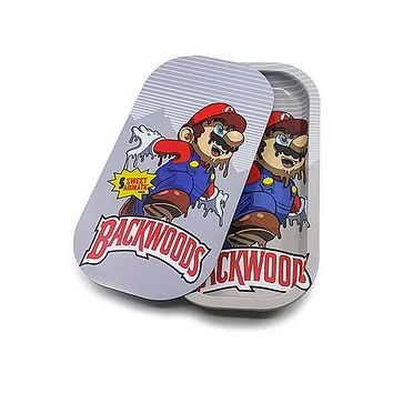 Metal Rolling Tray w/ Magnetic Lid - Melting Mario