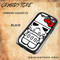 Hello Kitty Skywalker Dart Vader Star Wars Black White Snap On 3D For Samsung Galaxy S3 Case