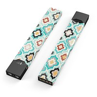 Dotted Moroccan pattern - Premium Decal Protective Skin-Wrap Sticker compatible with the Juul Labs vaping device
