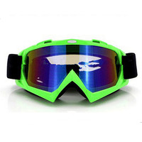 Adult Colourful double Lens Snow Ski Snowboard Goggles Motocross Anti-Fog Fashion Eye Protection Green Colourful
