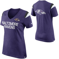Baltimore Ravens Nike Women's Fan Top V-Neck T-Shirt – Purple