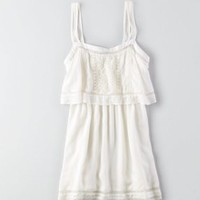 AEO Eyelet Dress , White | American Eagle Outfitters