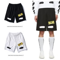 Boys & Men Off-White Casual Sport Shorts