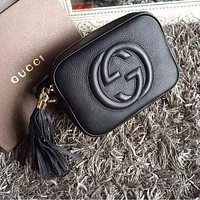 Gucci Fashion Casual Women Shopping Fashion Leather Shoulder Bag