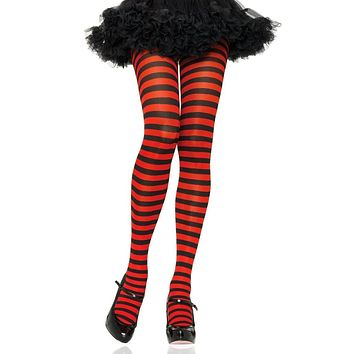 Trim Fit Girls Sparkly Striped Footed Tights in Sizes 2 to 14 Years