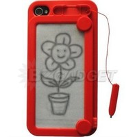 BZ Gadget's Magnetic Drawing Case Cover Skin for Apple iPhone 4 & 4S (Red): Amazon.ca: Electronics