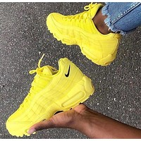 Nike Air Max 95 Fashion Women Casual Air Cushion Sport Running Shoes Sneakers Yellow