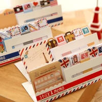 D25 Kawaii British Style & Animals Mini Memo Pad Notepad Note Book Sticky Notes Bookmark