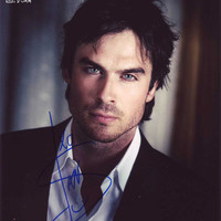 "Signed Ian Somerhalder 8 X 10"" Glossy  Photo Print , The Vampire Diaries"