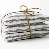 Lavender Sachet Set Ticking Stripe Housewarming Wedding