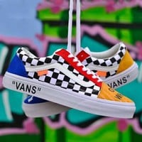 Vans x Off-white joint series classic street trend men and women canvas shoes skate shoes