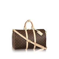 Keepall Bandouliere Style Monogram Canvas Crossbody Handle Bag 45 cm with Removable Strap by LAMB