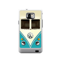 Cool Funny cute Classic Blue, Orange, Pink or Red Volkswagen VW mini bus van samsung galaxy S2 case ( White / Black Color Case)