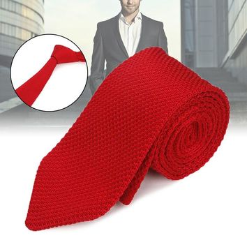 Men Formal Necktie Casual Knitted Skinny Neck Ties for Wedding Business Party Groom JL