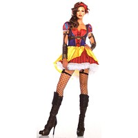 Leg Avenue Rebel Snow White Sexy Halloween Costume Cosplay Dress Headband S M L