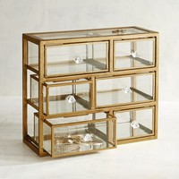Glass & Metal Jewelry Box