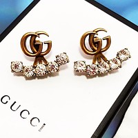 GUCCI Stylish Women Chic Diamond Earrings Jewelry Accessories