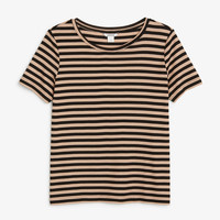 Monki | Tops | Relaxed wide collar tee