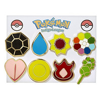 Pokemon Gym Badges - Kanto Gen 1 (Gold Trim)