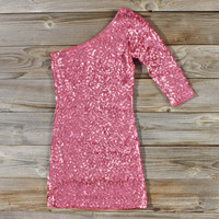 Golden Moon Party Dress in Pink