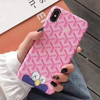 Goyard Fashion Print iPhone Phone Cover Case For iphone 6 6s 6plus 6s-plus 7 7plus iPhone X XR XS XS MAX Pink