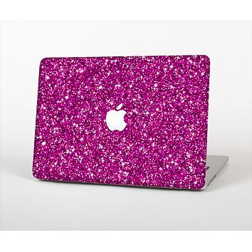 The Bright Pink Glitter Skin Set for the Apple MacBook Air 13""