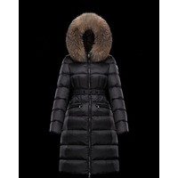 Moncler Warm Winter Down Jacket Windproof Hooded Collar Women's Parka Male Big Coat Smart Casual Covered Button