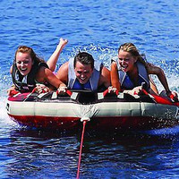 Kids, Adults Large Inflatable 3 Person Boating Water Tubing Towable Tube