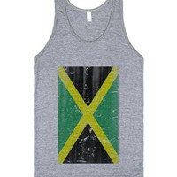 Dirty Jamaica vintage flag-Unisex Athletic Grey Tank