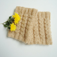Creamy Caramel Color Boot Cuffs, Gift for her