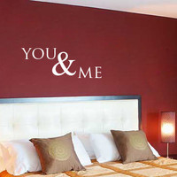 You & Me Vinyl Wall Decal