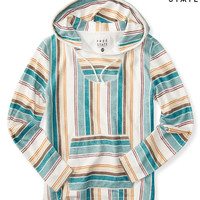 Free State Striped Baja Pullover Hoodie