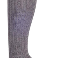Footless Cable Knitted Tights 84% off retail