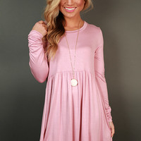 Not Your Babydoll Tunic in Blush