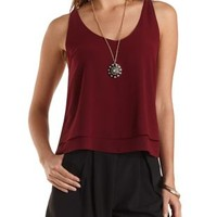 Chain Back Chiffon Swing Top by Charlotte Russe