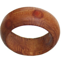 Brown Distressed Wooden Bohemian Fashion Ring