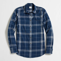 Factory classic button-down shirt in flannel