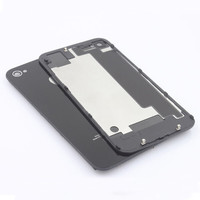 Hot sale mobile phone cover For iPhone 4S 4 Compatible Back Glass Rear Door Battery Replace Cover White/Black SJHG002