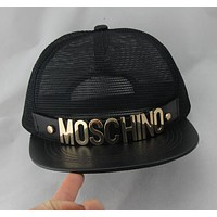 Moschino Stylish Unisex Cool Spring Summer Street Snap Badge Gauze Baseball Cap Hip-Hop Hat Peaked Cap