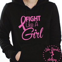 Fight Like a girl shirt. Like a girl sweater. Womens fitness Tank Top. Womens Yoga Tank Top. Workout Burnout Tank. Breast Cancer Awareness.
