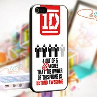 One Direction 1D Quotes - design for iPhone 4/4S Black case