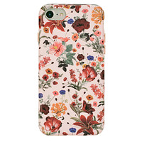 Nude Vintage Floral iPhone Case