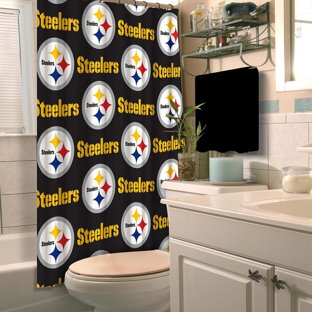 Pittsburgh Steelers NFL Shower Curtain from For Die Hard Fans