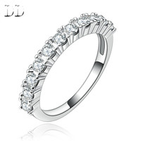 Ring for Women White Gold Plated promise Ring Engagement Wedding crown shape design Jewelry accessories high quality DD144