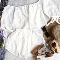 final sale - reverse - on that note - two piece set - white