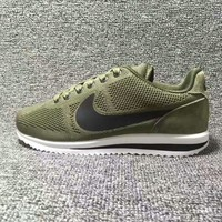 NIKE Cortez Forrest gump Casual Running Sport Shoes Sneakers knit Army green black hook-1
